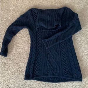H&M navy cable sweater